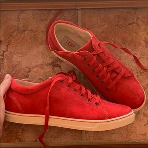 UGG Red Suede/Wool Tennis Shoes